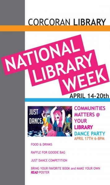 Promo for Corcoran Library National Library Week