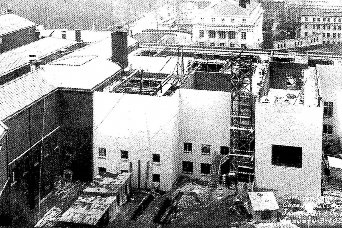 Construction of the Clark Wing
