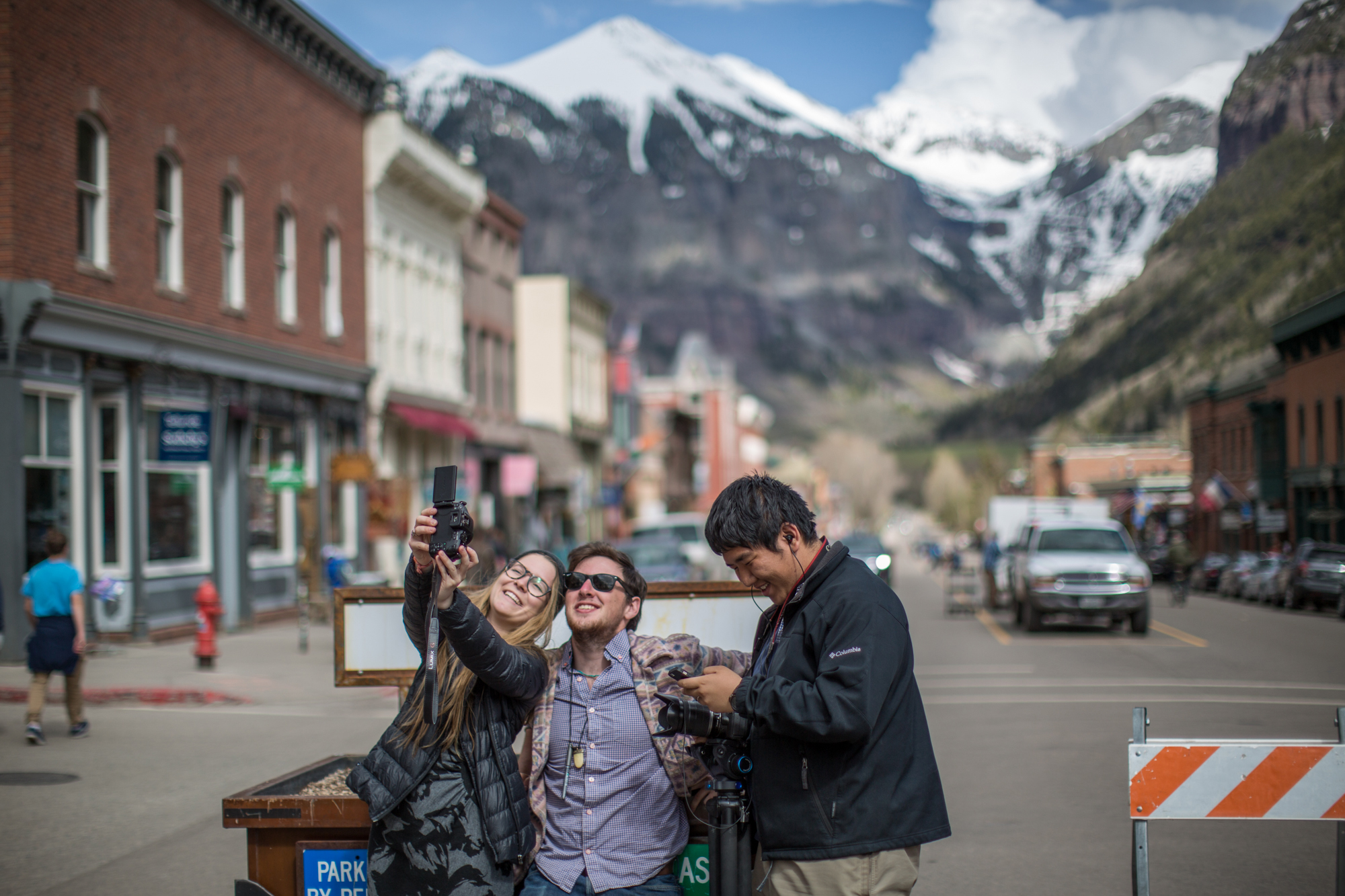 photo of students taking a selfie in Colorado