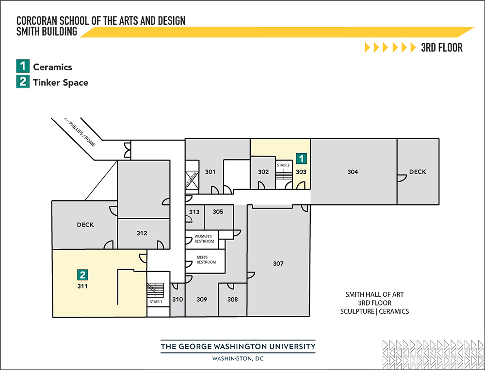 map of smith building 3rd floor