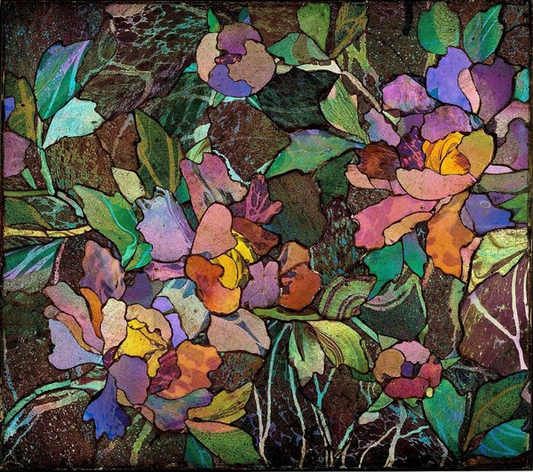 photo of a glass mosaic from the tiffany glass mosaic show