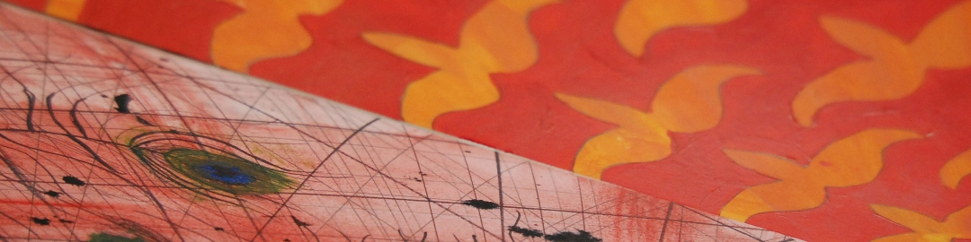 Close-up of red painting