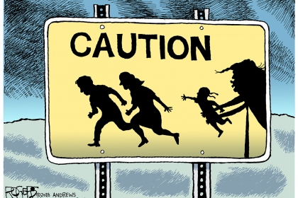 """Immigrant Children"" went viral after Rob Rogers was fired in June."