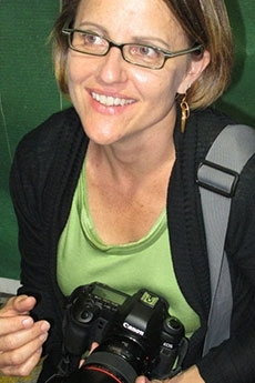 photo of susan sterner with camera