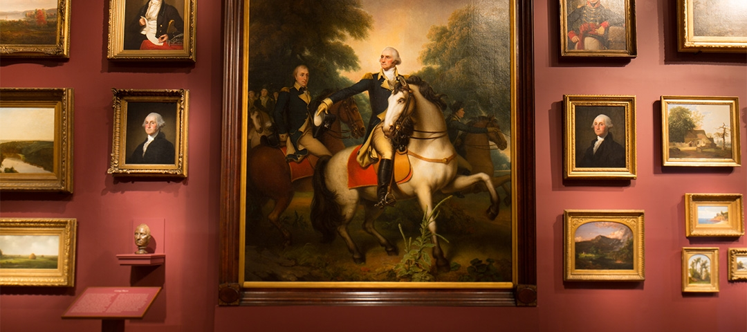 Portraiture of George Washington, from the Corcoran's time as a gallery.