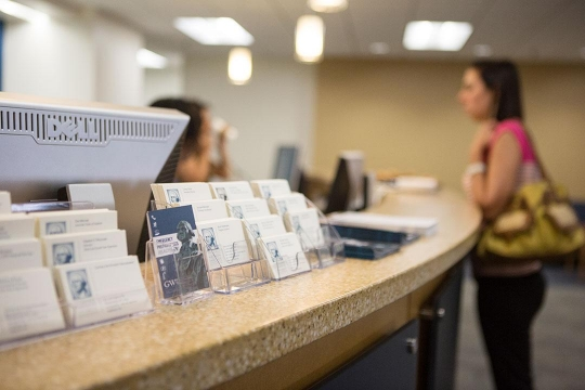 Photo of Counter at GW's Office of Student Financial Assistance