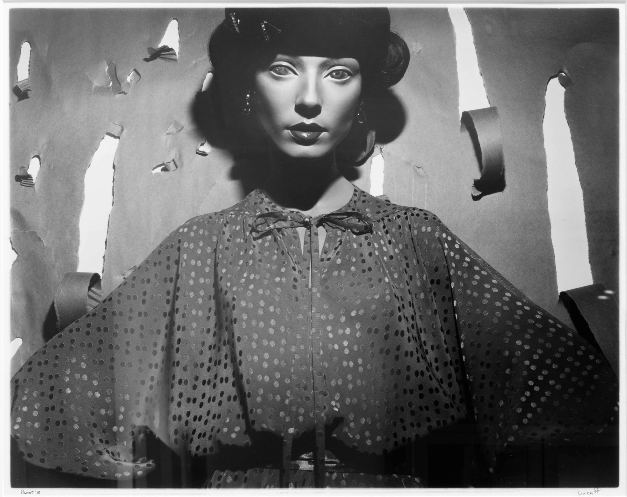 "Steven Livick ""Untitled (Single Mannequin)"", 1978 gelatin silver print Gift of Lawrence Benenson, 1982"