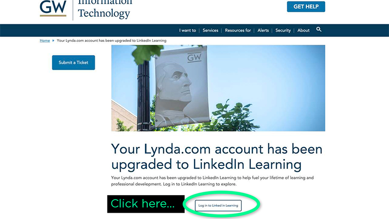 GW Lynda upgraded to LinkedIn