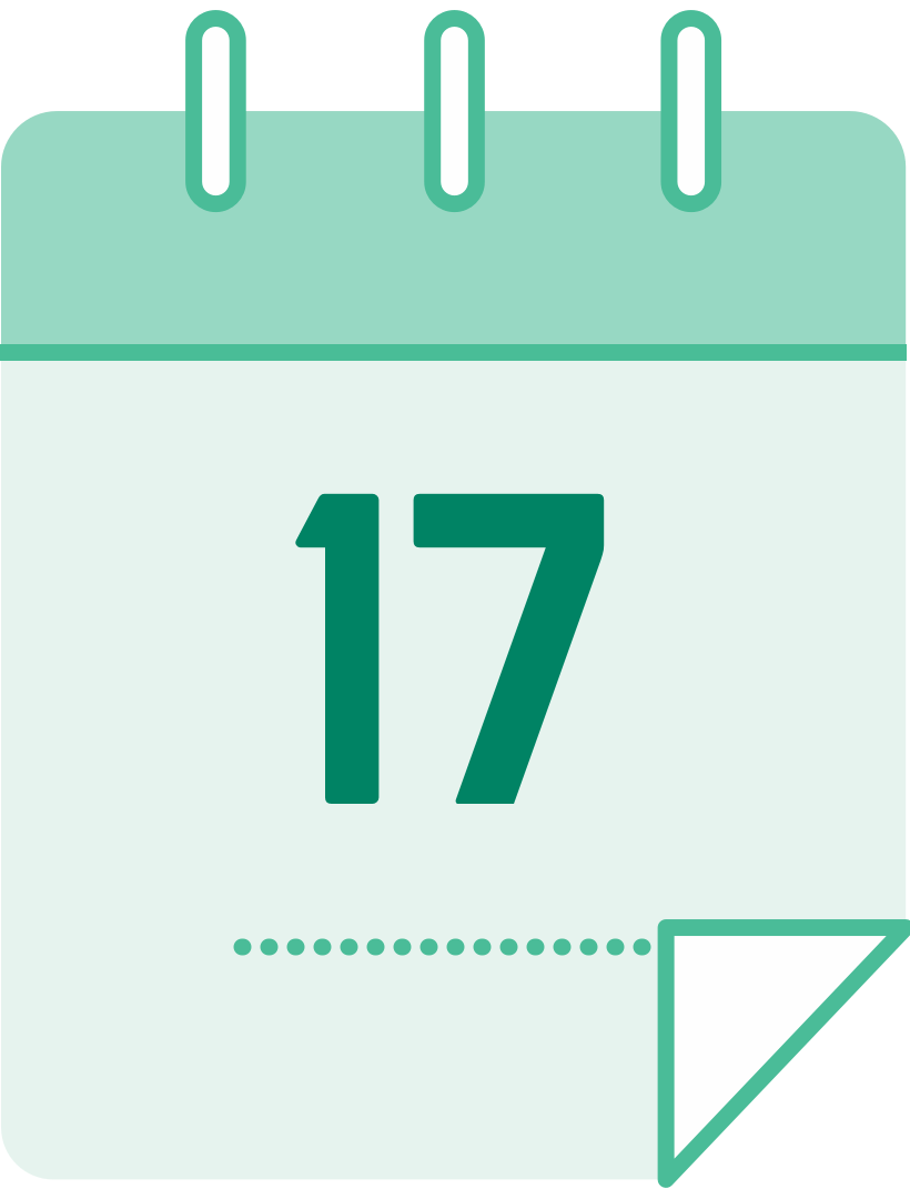 calendar icon with the number 17