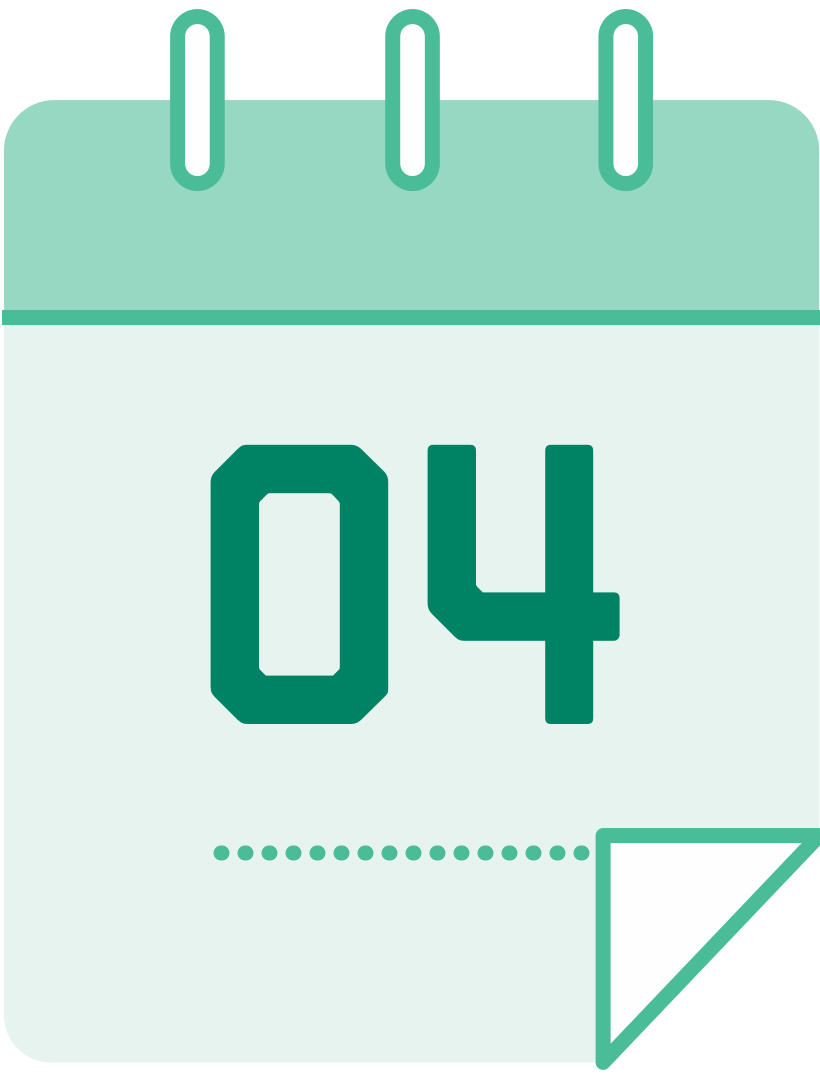 calendar icon with the number 4