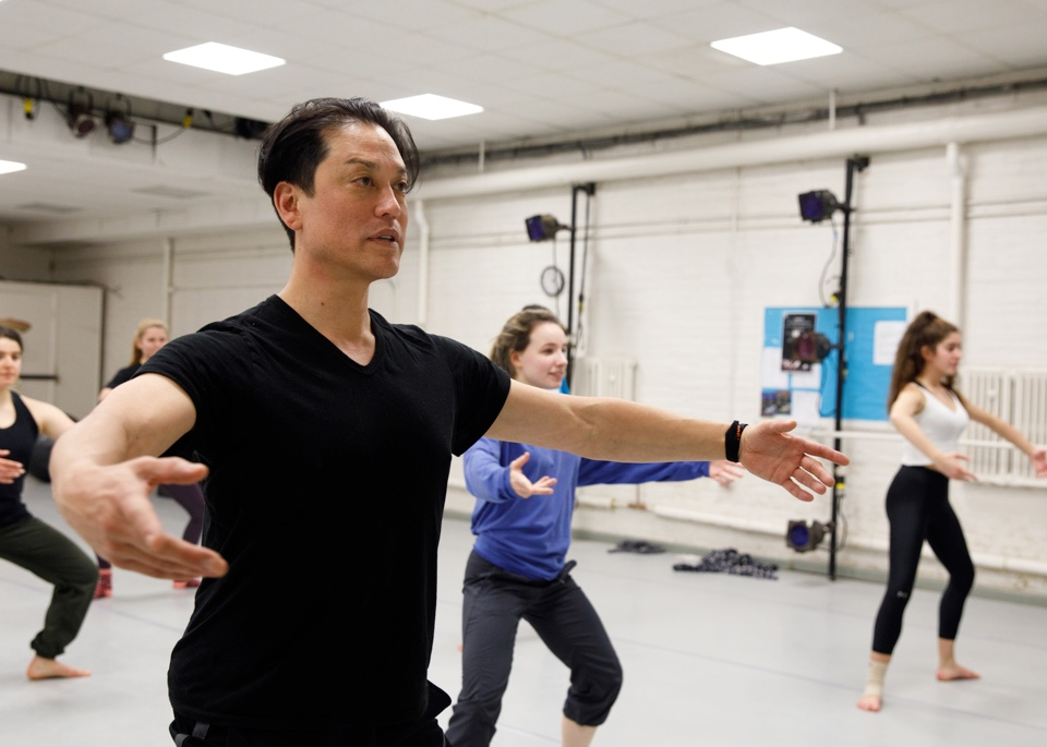 Dana Tai Soon Burgess teaching students dance