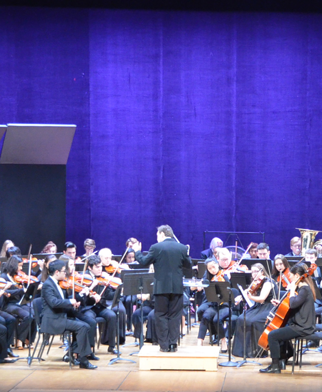 GW Orchestra performing