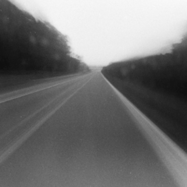 black and white portrait of a road