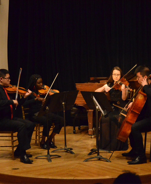 Chamber orchestra on a stage