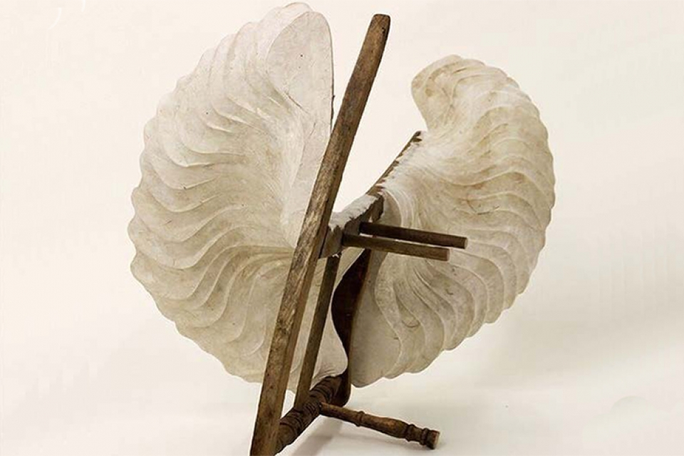 paper nautilus shell sculpture