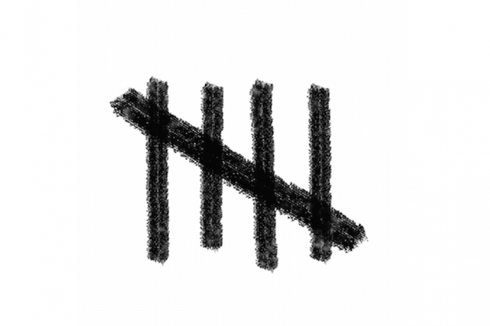 Image of a tally mark