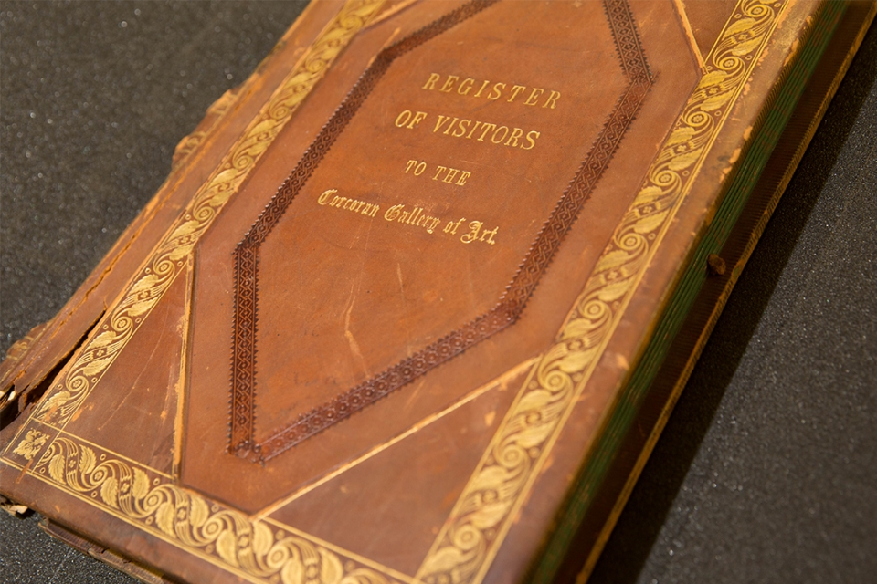Photo of a Corcoran Gallery curator's journal