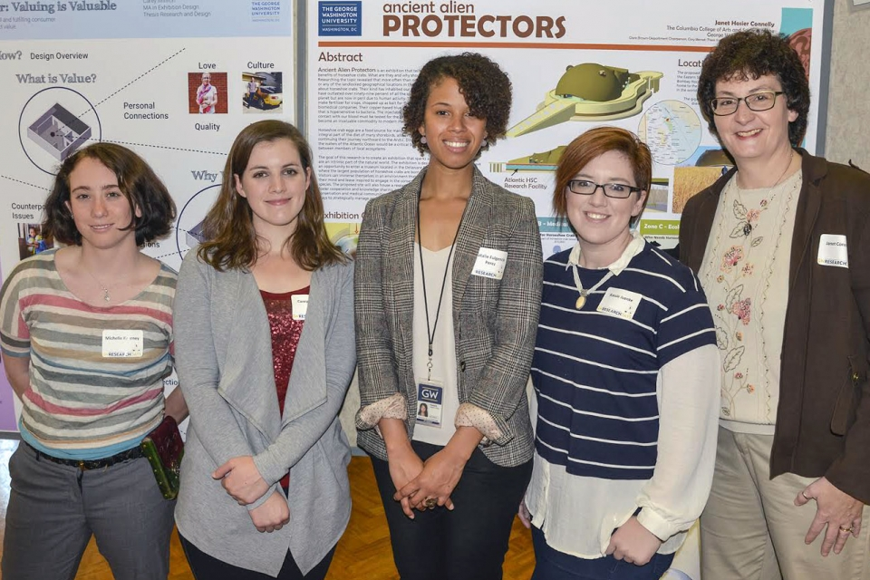 MA Exhibition Design students at GW Research Days