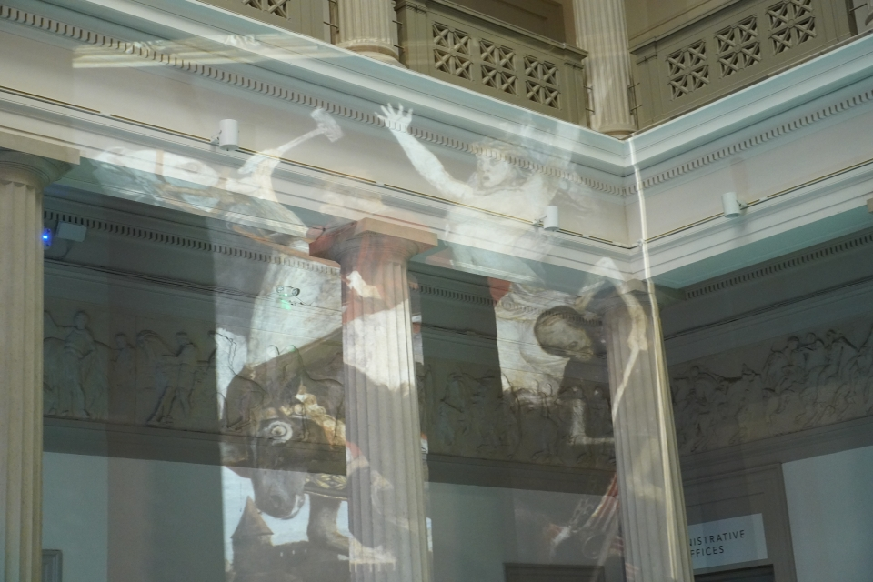 Ghosts projected onto the walls of the Corcoran