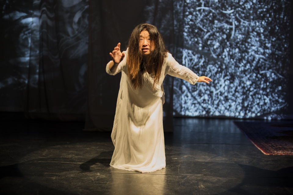 "Hong performing in area premiere of ""On the Threshold of Winter."""