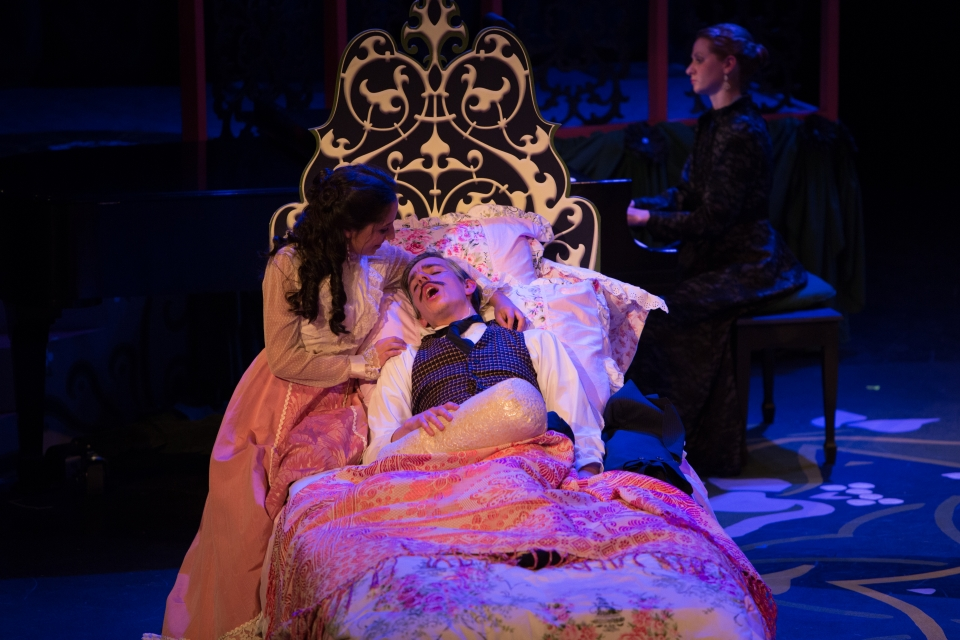 """Theatre students in """"A Little Night Music"""" (2016)"""