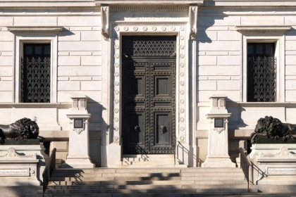 the Corcoran's front doors
