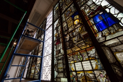 Belgian Stained Glass Windows Being Removed
