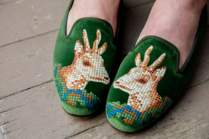 Stubbs and Wooton has produced a limited run of replica Lincoln slippers.
